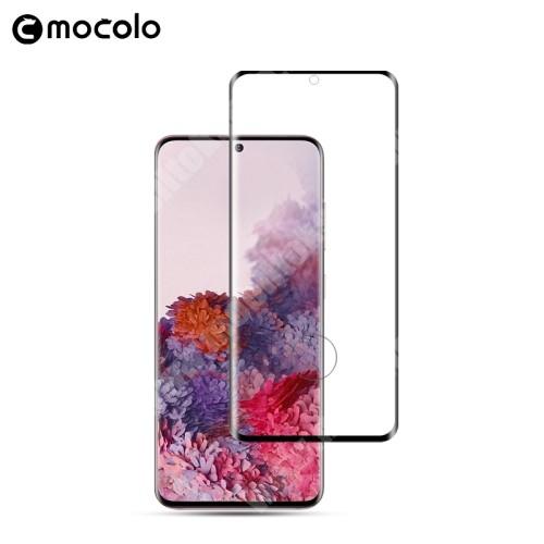 MOCOLO előlap védő karcálló edzett üveg, TELJES KIJELZŐT VÉDI - FEKETE - 3D, 9H, 0,33mm, Arc Edge - SAMSUNG SM-G980F Galaxy S20 / SAMSUNG SM-G981F Galaxy S20 5G - GYÁRI