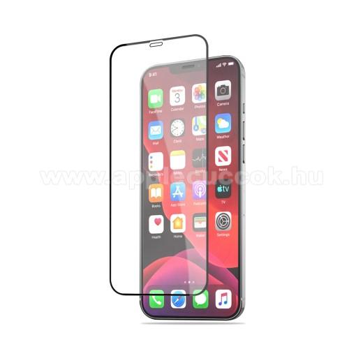 MOCOLO előlap védő karcálló edzett üveg, TELJES KIJELZŐT VÉDI - FEKETE - 9H, 0,33mm, Arc Edge, A teljes felületén tapad! - APPLE iPhone 12 mini - GYÁRI