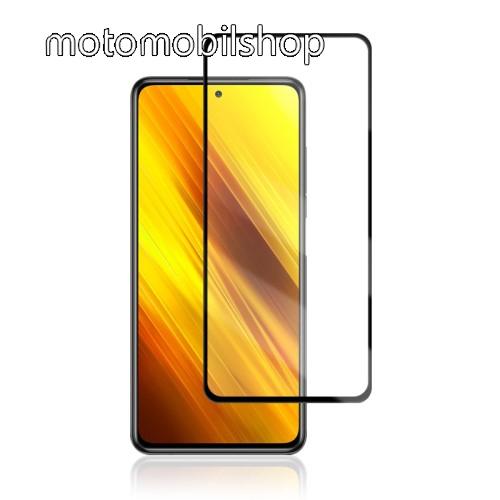 MOCOLO előlap védő karcálló edzett üveg, TELJES KIJELZŐT VÉDI - FEKETE - 9H, 0,33mm, Arc Edge, A teljes felületén tapad! - Xiaomi Poco X3 / Xiaomi Poco X3 NFC - GYÁRI