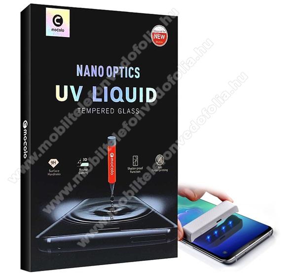 MOCOLO Full Glue UV Liquid előlap védő karcálló edzett üveg, 0.3mm, UV lámpával - ÁTLÁTSZÓ - OnePlus 7 Pro / OnePlus 7T Pro - GYÁRI