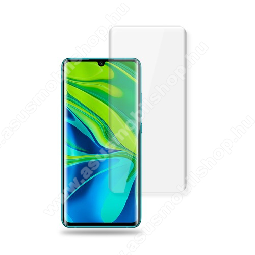 MOCOLO Full Glue UV Liquid előlap védő karcálló edzett üveg, 0.3mm, UV lámpával - ÁTLÁTSZÓ - Xiaomi Mi Note 10 / Xiaomi Mi Note 10 Pro / Xiaomi Mi CC9 Pro - A TELJES KIJELZŐT VÉDI! - GYÁRI