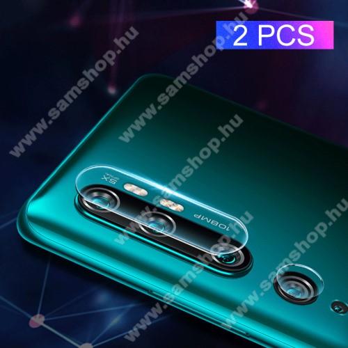 MOCOLO kameravédő üvegfólia, 0,3mm, Arc Edge, két részes - Xiaomi Mi Note 10 / Xiaomi Mi Note 10 Pro / Xiaomi Mi CC9 Pro - GYÁRI