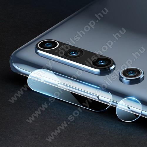 MOCOLO kameravédő üvegfólia, 1db, 0,3mm, Arc Edge, két részes - Xiaomi Mi 10 5G - GYÁRI