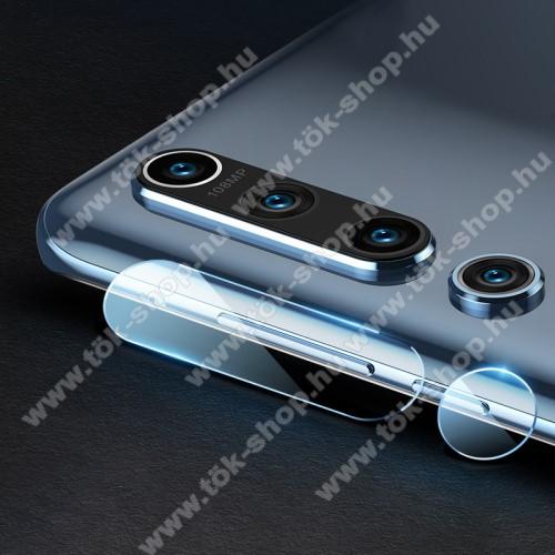 MOCOLO kameravédő üvegfólia, 1db, 0,3mm, Arc Edge, két részes - Xiaomi Mi 10 5G / Xiaomi Mi 10 Pro 5G - GYÁRI