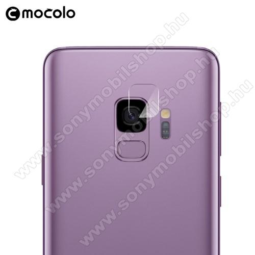 MOCOLO kameravédő üvegfólia - 1db, törlőkendővel, 9H - SAMSUNG SM-G960 Galaxy S9