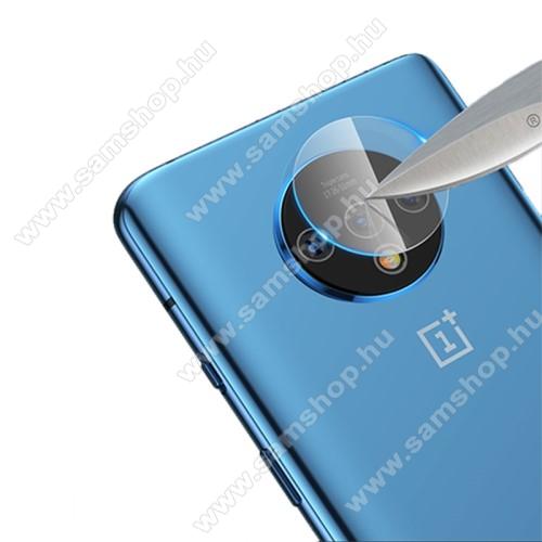 MOCOLO kameravédő üvegfólia - 1db, törlőkendővel, 9H - OnePlus 7T - GYÁRI