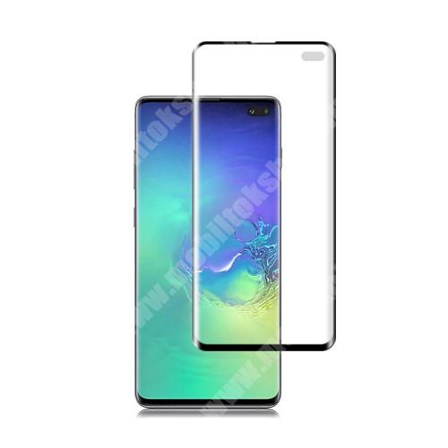 MOCOLO képernyővédő fólia - Ultra Clear, PET (műanyag), 0.15mm vékony, 1db, A TELJES KÉPERNYŐT VÉDI! - FEKETE - SAMSUNG SM-G975F Galaxy S10+ - GYÁRI