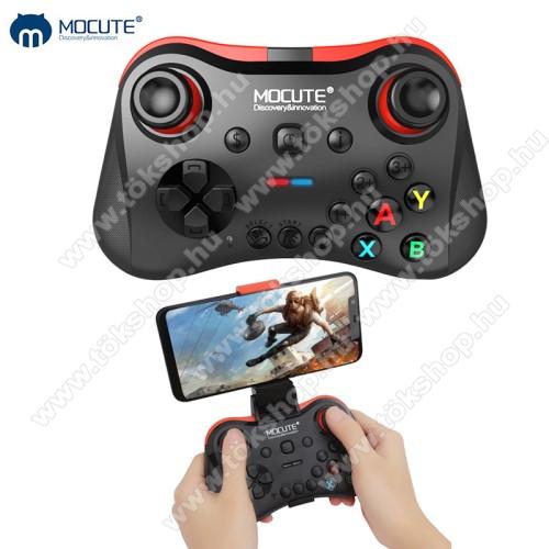 MOCUTE 056 UNIVERZÁLIS Kontroller / Joystick - max 85mm-ig nyíló bölcsővel, Bluetooth 3.0 csatlakozás, beépített 400mAh akkumulátor, letölthető app, microUSB töltőport - FEKETE
