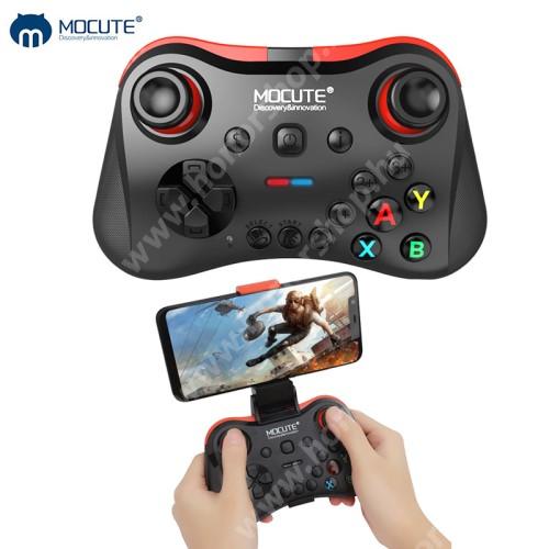 HUAWEI Honor V40 5G MOCUTE 056 UNIVERZÁLIS Kontroller / Joystick - max 85mm-ig nyíló bölcsővel, Bluetooth 3.0 csatlakozás, beépített 400mAh akkumulátor, letölthető app, microUSB töltőport - FEKETE