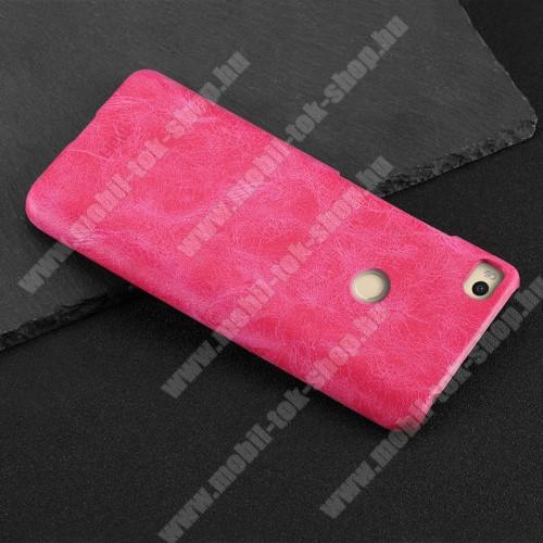MOFI műanyag védő tok / bőr hátlap - RÓZSASZÍN - Xiaomi Mi Max 2 - GYÁRI