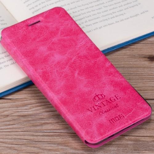MOFI notesz / mappa tok - RÓZSASZÍN - oldalra nyíló flip cover, asztali tartó funkció, bankkártya tartó, szilikon belső - OnePlus 5 - GYÁRI