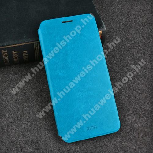MOFI notesz / mappa tok - VILÁGOSKÉK - oldalra nyíló flip cover, asztali tartó funkció, szilikon belső - HUAWEI Honor 10 - GYÁRI