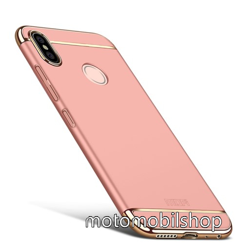 MOFI SHIELD SLIM műanyag védő tok / hátlap - 0,9mm vékony! - ROSE GOLD - Xiaomi Redmi Note 5 Pro (Global version) / Xiaomi Redmi Note 5 (Global version) - GYÁRI