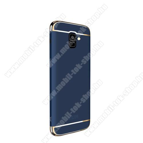 MOFI SHIELD SLIM műanyag védő tok / hátlap - 0,9mm vékony! - KÉK - SAMSUNG SM-J600F Galaxy J6 (2018) - GYÁRI