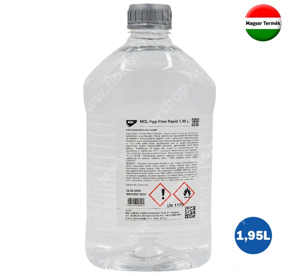 HUAWEI Honor V40 5G MOL Hygi Flow Rapid alkoholos felület tisztító folyadék (fertőtlenítő, 1950 ml)