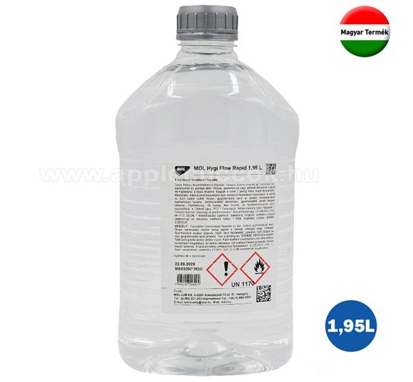 MOL Hygi Flow Rapid alkoholos felület tisztító folyadék (fertőtlenítő, 1950 ml)
