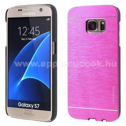 MOTOMO m?anyag v�d? tok / alum�nium h�tlap - MAGENTA - SAMSUNG SM-G930 Galaxy S7