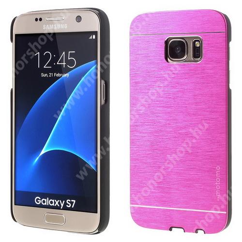 MOTOMO műanyag védő tok / alumínium hátlap - MAGENTA - SAMSUNG SM-G930 Galaxy S7