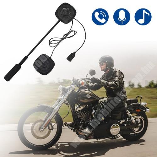 MOTOROLA Moto G4 MOTOROS BLUETOOTH headset / james bond bukósisakhoz - V4.1+ EDR, beépített akkumulátor, mikrofon - FEKETE