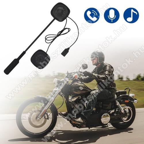 MOTOROS BLUETOOTH headset / james bond bukósisakhoz - V4.1+ EDR, beépített akkumulátor, mikrofon - FEKETE