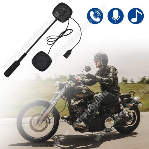 SAMSUNG A897 MythicMOTOROS BLUETOOTH headset / james bond bukósisakhoz - V4.1+ EDR, beépített akkumulátor, mikrofon - FEKETE