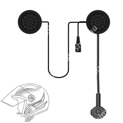 MOTOROS BLUETOOTH headset / james bond bukósisakhoz - mikrofon, tépőzáras, MOTOROS / EXTRÉM sportokhoz - FEKETE