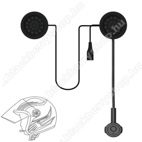 BLACKBERRY 8120 PearlMOTOROS BLUETOOTH headset / james bond bukósisakhoz - mikrofon, tépőzáras, MOTOROS / EXTRÉM sportokhoz - FEKETE