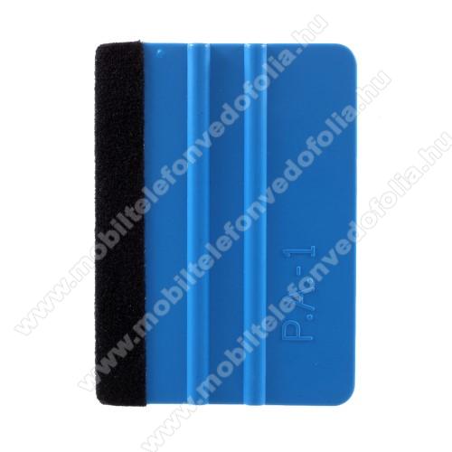 Műanyag fólia kasírozó / simító kártya - segítségével a fóliát könnyedén és buborékmentesen ragaszthatjuk fel a felületre - KÉK