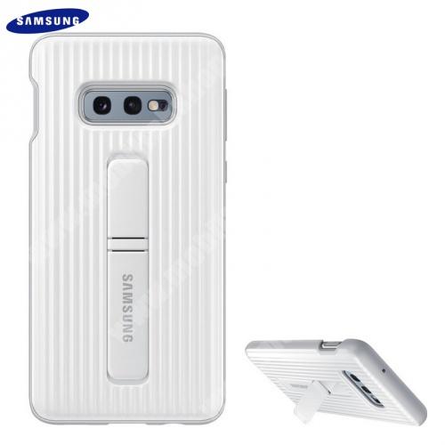Műanyag telefonvédő (dupla rétegű, gumírozott, asztali tartó funkció) FEHÉR - EF-RG970CWEGWW - SAMSUNG Galaxy S10e (SM-G970) - GYÁRI