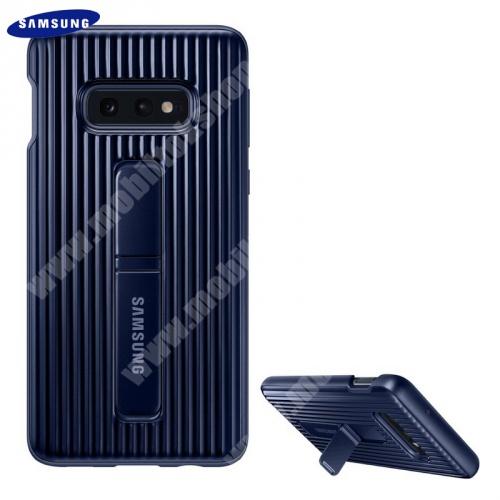 Műanyag telefonvédő (dupla rétegű, gumírozott, asztali tartó funkció) KÉK - EF-RG970CLEGWW - SAMSUNG Galaxy S10e (SM-G970) - GYÁRI