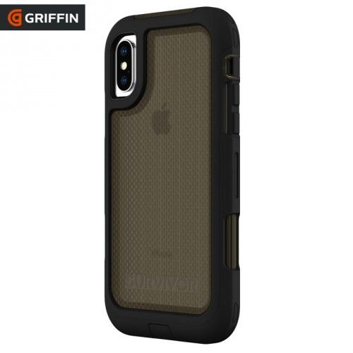 Műanyag telefonvédő SURVIVOR EXTREME (szilikon betét, 2.1 méterig ütésálló, lánc minta) FEKETE - GIP-014-BLK - APPLE iPhone XS Max 6.5 - GYÁRI