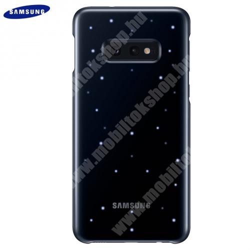 Műanyag telefonvédő (ultravékony, hívás és üzenetjelző funkció, LED világítás) FEKETE - EF-KG970CBEGWW - SAMSUNG Galaxy S10e (SM-G970) - GYÁRI