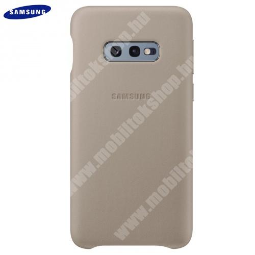 Műanyag telefonvédő (valódi bőr hátlap) SZÜRKE - EF-VG970LJEGWW - SAMSUNG Galaxy S10e (SM-G970) - GYÁRI