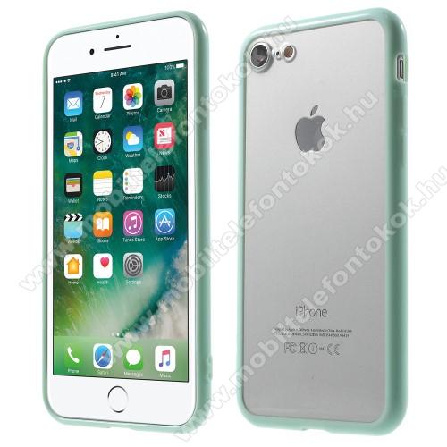 Műanyag védő tok / áttetsző hátlap - CYAN KÉK - szilikon szegély - APPLE iPhone 7 (4.7)  / APPLE iPhone 8 (4.7)