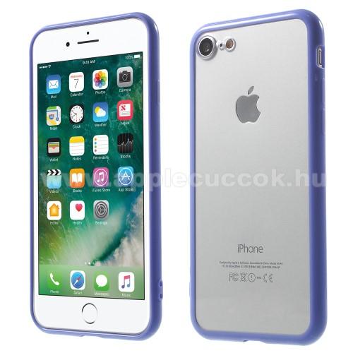 Műanyag védő tok / áttetsző hátlap - LILA - szilikon szegély - APPLE iPhone 7 (4.7)  / APPLE iPhone 8 (4.7)