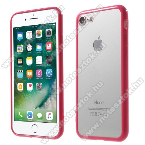 Műanyag védő tok / áttetsző hátlap - MAGENTA - szilikon szegély - APPLE iPhone 7 (4.7)  / APPLE iPhone 8 (4.7)