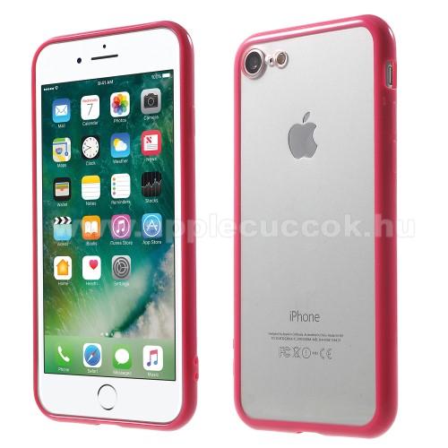 Műanyag védő tok / áttetsző hátlap - MAGENTA - szilikon szegély - APPLE iPhone SE (2020) / APPLE iPhone 7 / APPLE iPhone 8