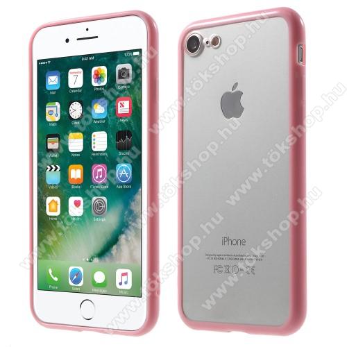 Műanyag védő tok / áttetsző hátlap - RÓZSASZÍN - szilikon szegély - APPLE iPhone 7 (4.7)  / APPLE iPhone 8 (4.7)