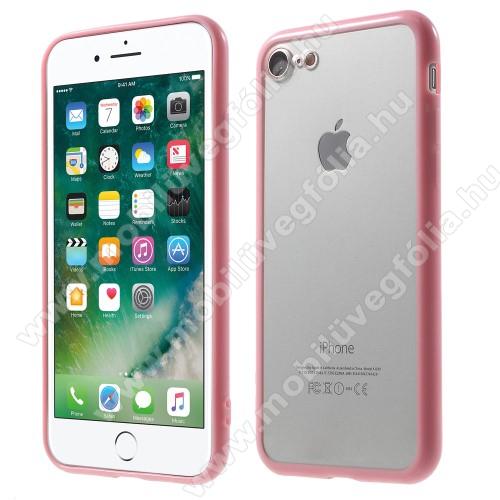 Műanyag védő tok / áttetsző hátlap - RÓZSASZÍN - szilikon szegély - APPLE iPhone SE (2020) / APPLE iPhone 7 / APPLE iPhone 8