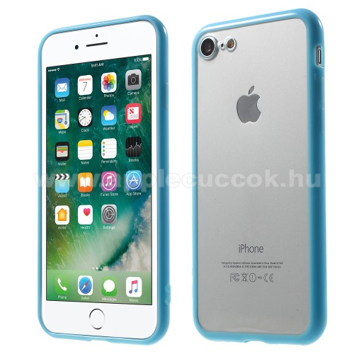 Műanyag védő tok / áttetsző hátlap - VILÁGOSKÉK - szilikon szegély - APPLE iPhone 7 (4.7)