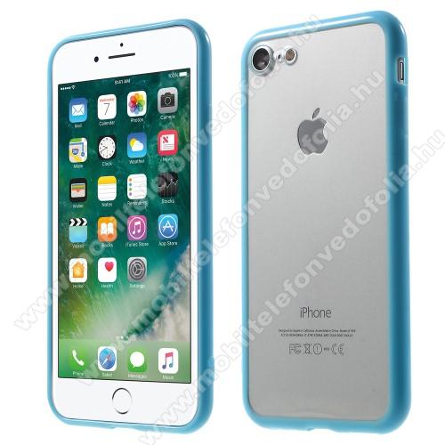 Műanyag védő tok / áttetsző hátlap - VILÁGOSKÉK - szilikon szegély - APPLE iPhone 7 (4.7)  / APPLE iPhone 8 (4.7)