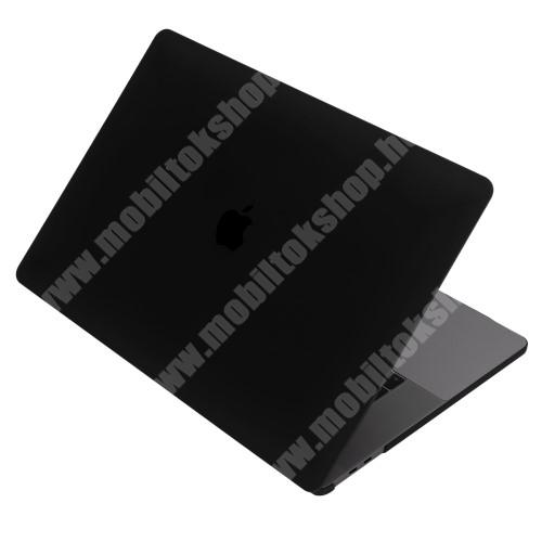 """Műanyag védő tok / hátlap - 2 részes kivitel, hőelvezető, ULTRAVÉKONY! 0,1mm - MATT - FEKETE - MacBook Pro 15,4"""" (2016)"""