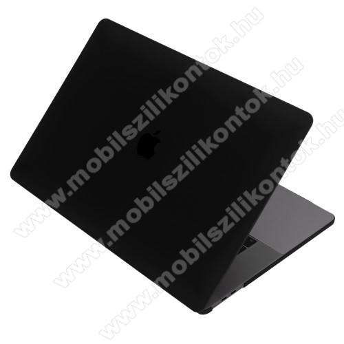 Műanyag védő tok / hátlap - 2 részes kivitel, hőelvezető, ULTRAVÉKONY! 0,1mm - MATT - FEKETE - MacBook Pro 15,4