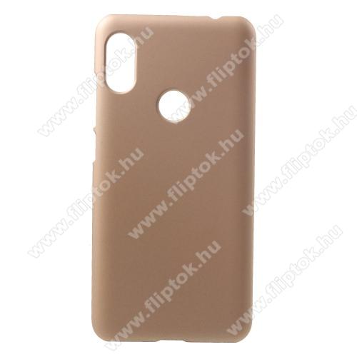 Műanyag védő tok / hátlap - ARANY - Hybrid Protector - Xiaomi Redmi Note 6 Pro