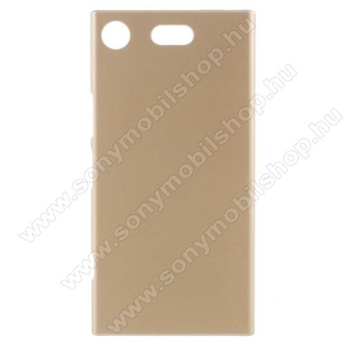 Műanyag védő tok / hátlap - ARANY - Hybrid Protector - Sony Xperia XZ1 Compact