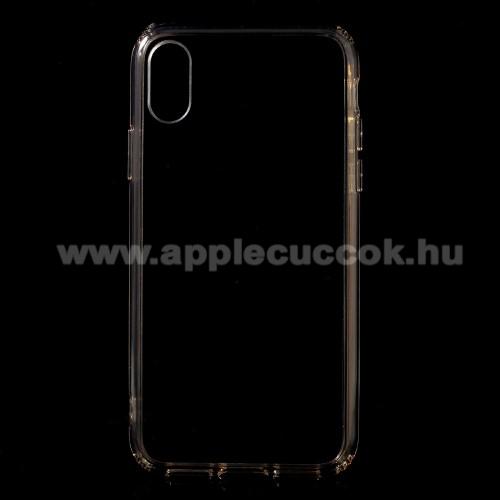 Műanyag védő tok / hátlap - ARANY - szilikon szegély - APPLE iPhone X / APPLE iPhone XS