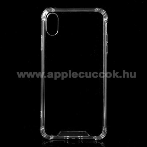 Műanyag védő tok / hátlap - ÁTLÁTSZÓ - szilikon szegély, erősített sarkok - APPLE iPhone XS Max