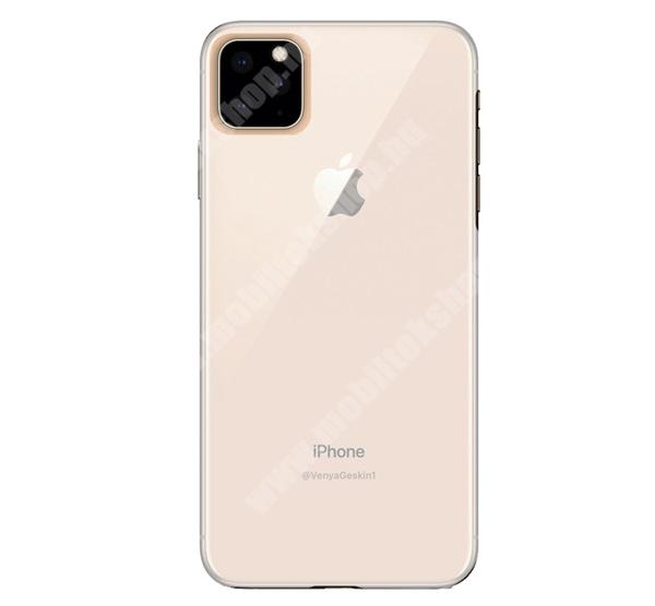 Műanyag védő tok / hátlap - ÁTLÁTSZÓ - szilikon szegély - Apple iPhone 11