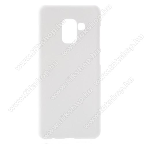 Műanyag védő tok / hátlap - FEHÉR - Hybrid Protector - SAMSUNG Galaxy A8 (2018)