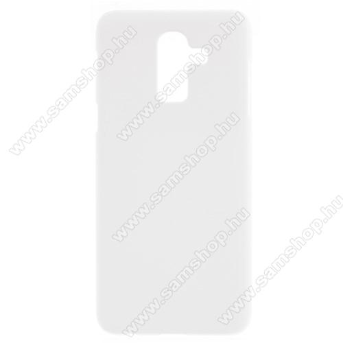 Műanyag védő tok / hátlap - FEHÉR - Hybrid Protector - SAMSUNG Galaxy J8 (2018)